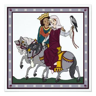 Carte médiévale de poème d'amour
