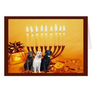 Carte Menorah de labrador retriever Chanukah