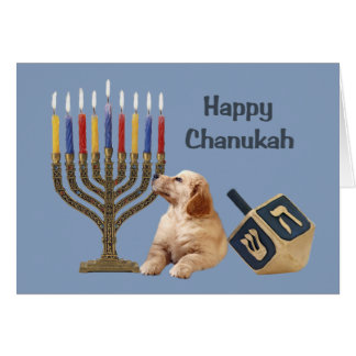 Carte Menorah Dreidel1 de Chanukah de golden