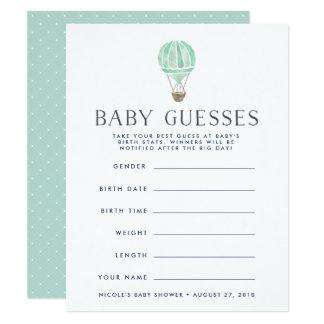 Carte Menthe | dans le jeu de devinettes de baby shower