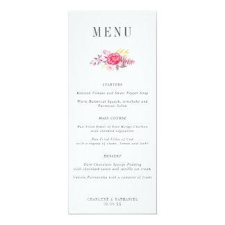 Carte Menu floral succulent de mariage de Botanicals