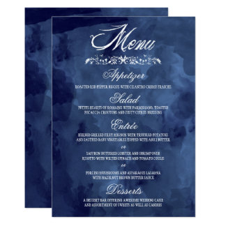 Carte Menus de Bohème de mariage d'aquarelle de marine