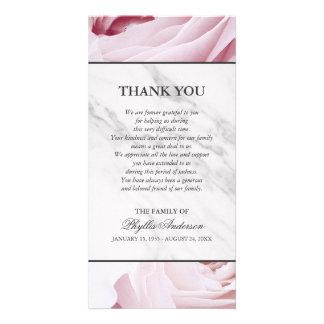 Carte Merci de marbre blanc de cérémonie commémorative