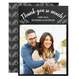 Carte Merci de photo de mariage de tableau