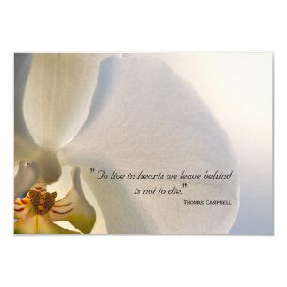 Carte Merci d'élégance d'orchidée pour votre note de