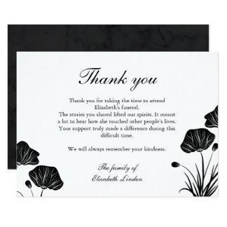 Carte Merci d'enterrement de pavots noirs et cultivés