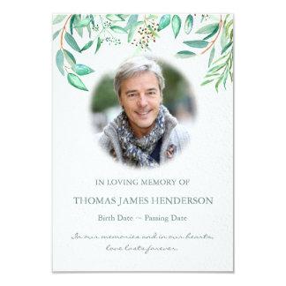 Carte Merci d'enterrement de sympathie d'eucalyptus