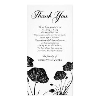 Carte Merci élégant de sympathie des pavots |