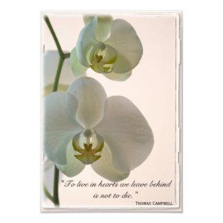 Carte Merci élégant d'orchidée pour votre note de