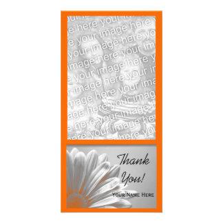 Carte Merci floral orange de points culminants