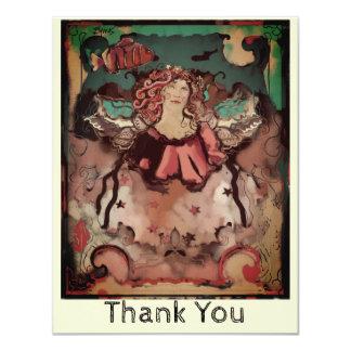 Carte Merci génial inspiré de Deco d'ange de mer