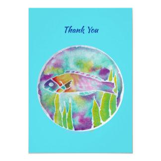 Carte Merci hawaïen d'art de batik de poissons de