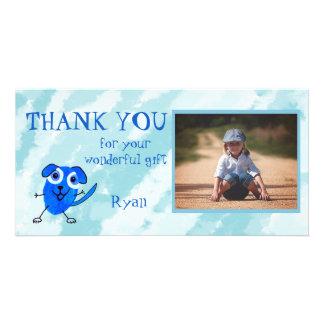 Carte Merci personnalisé par chien bleu