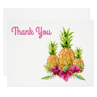 Carte Merci tropical de fougères d'orchidées d'ananas