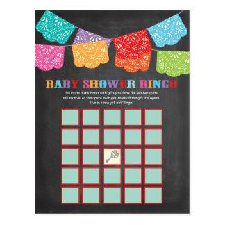Carte mexicaine de jeu de bingo-test de baby