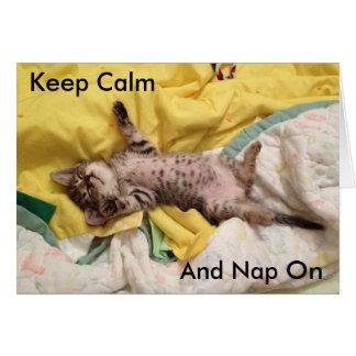 Carte mignonne de chaton de sommeil (délivrance