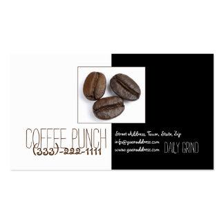 Carte mignonne de grains de café du magasin trois carte de visite standard
