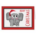 """Carte mignonne de """"Joyeux Noël"""" d'éléphant de"""