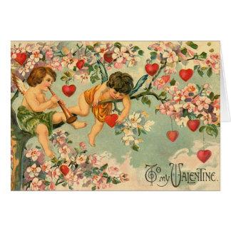 Carte mignonne de Saint-Valentin de cupidon