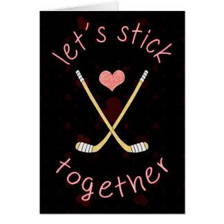 Carte mignonne de Saint-Valentin de hockey sur