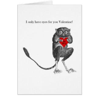 Carte mignonne de Valentine de bébé de Tarsier