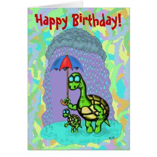 Carte mignonne drôle de joyeux anniversaire de tor