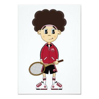 Carte mignonne du garçon RSVP de tennis Carton D'invitation 8,89 Cm X 12,70 Cm