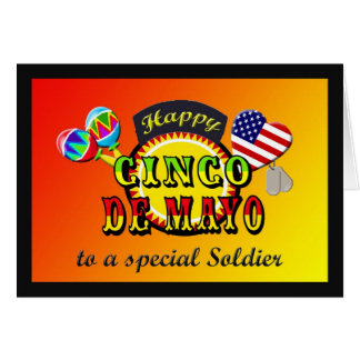 Carte militaire de Cinco De Mayo de soldat