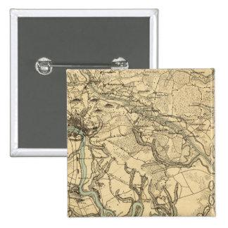 Carte militaire de Hughes de Richmond et de Peters Badge Carré 5 Cm