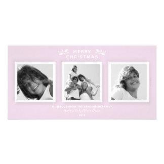 Carte Minimaux chics pâlissent - Noël de photo du rose