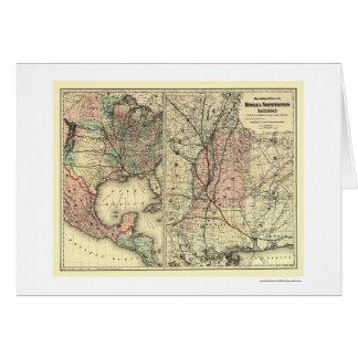 Carte mobile et du nord-ouest 1871 de chemin de