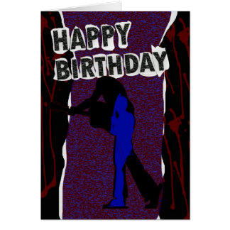 Carte moderne de joyeux anniversaire, rétro punk