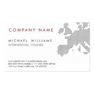 CARTE MODERNE ÉLÉGANTE EUROPE INTERNATIONALE BLANC CARTE DE VISITE STANDARD