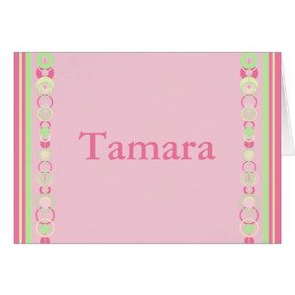 Carte moderne rose de cercles de Tamara