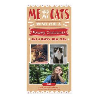 Carte Moi et mon Noël 4x8 Photocard (3 images) de chats