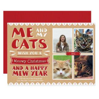 Carte Moi et mon Noël 5x7 Photocard (4 images) de chats