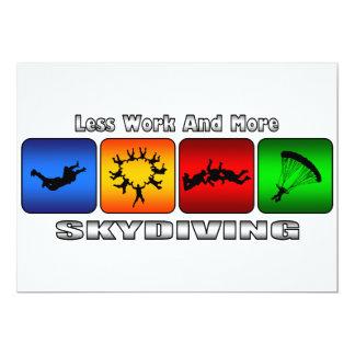 Carte Moins de travail et plus de parachutisme