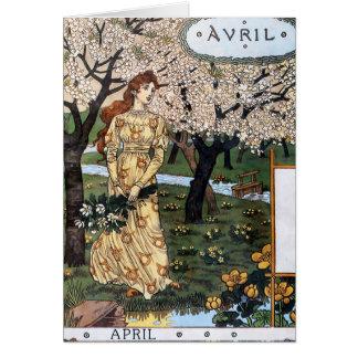 Carte : Mois d'avril - Avril