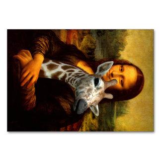 Carte Mona Lisa aime des girafes