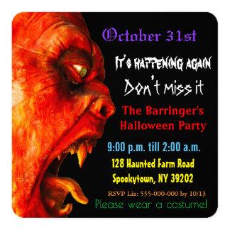 Carte Monstre mystérieux Halloween d'horreur éffrayant
