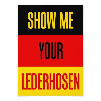 Carte Montrez-moi vos Lederhosen drapeau allemand