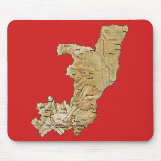 Carte Mousepad De Congo Brazzaville Tapis De Souris Zazzle