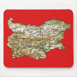 Carte Mousepad de la Bulgarie Tapis De Souris