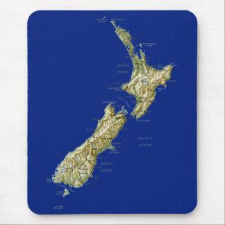 Carte Mousepad de la Nouvelle Zélande Tapis De Souris