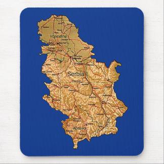 Carte Mousepad de la Serbie Tapis De Souris