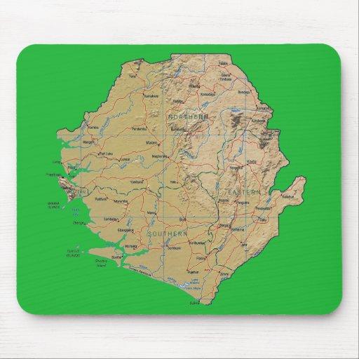 Carte Mousepad de Sierra Leone Tapis De Souris