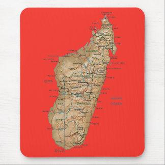 Carte Mousepad du Madagascar Tapis De Souris