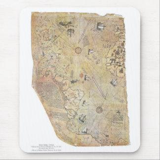 Carte Mousepad du monde de Piri Reis Tapis De Souris