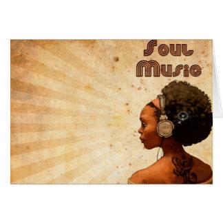 """Carte «Musique soul Music """""""