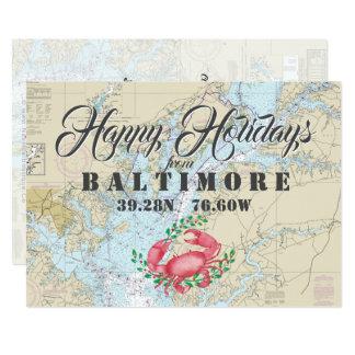 Carte Nautique bonnes fêtes de Baltimore